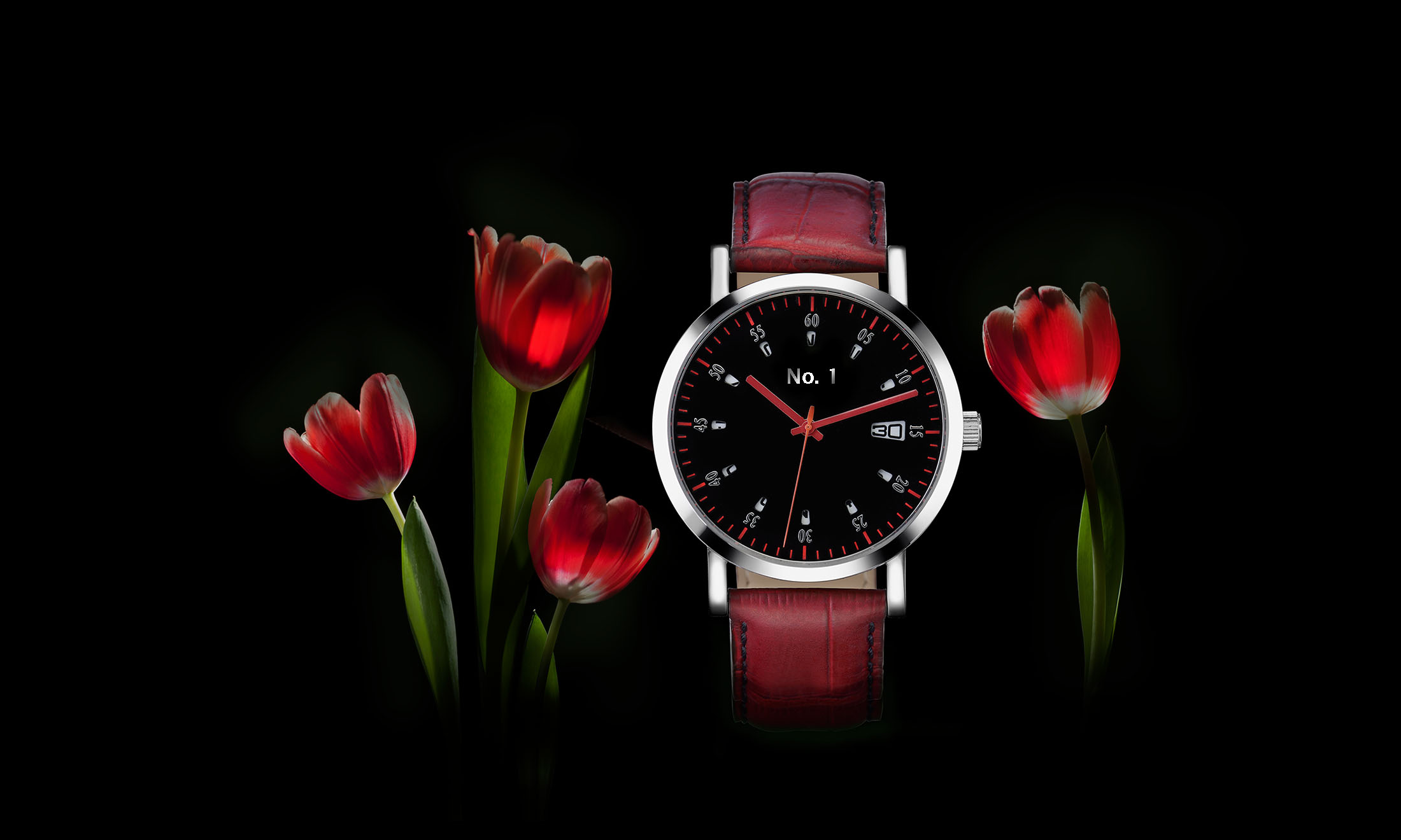watch tulip in red